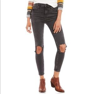 Free People High Rise Busted Jeans